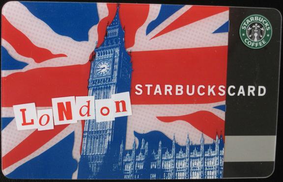 ロンドンのスタバカード ...
