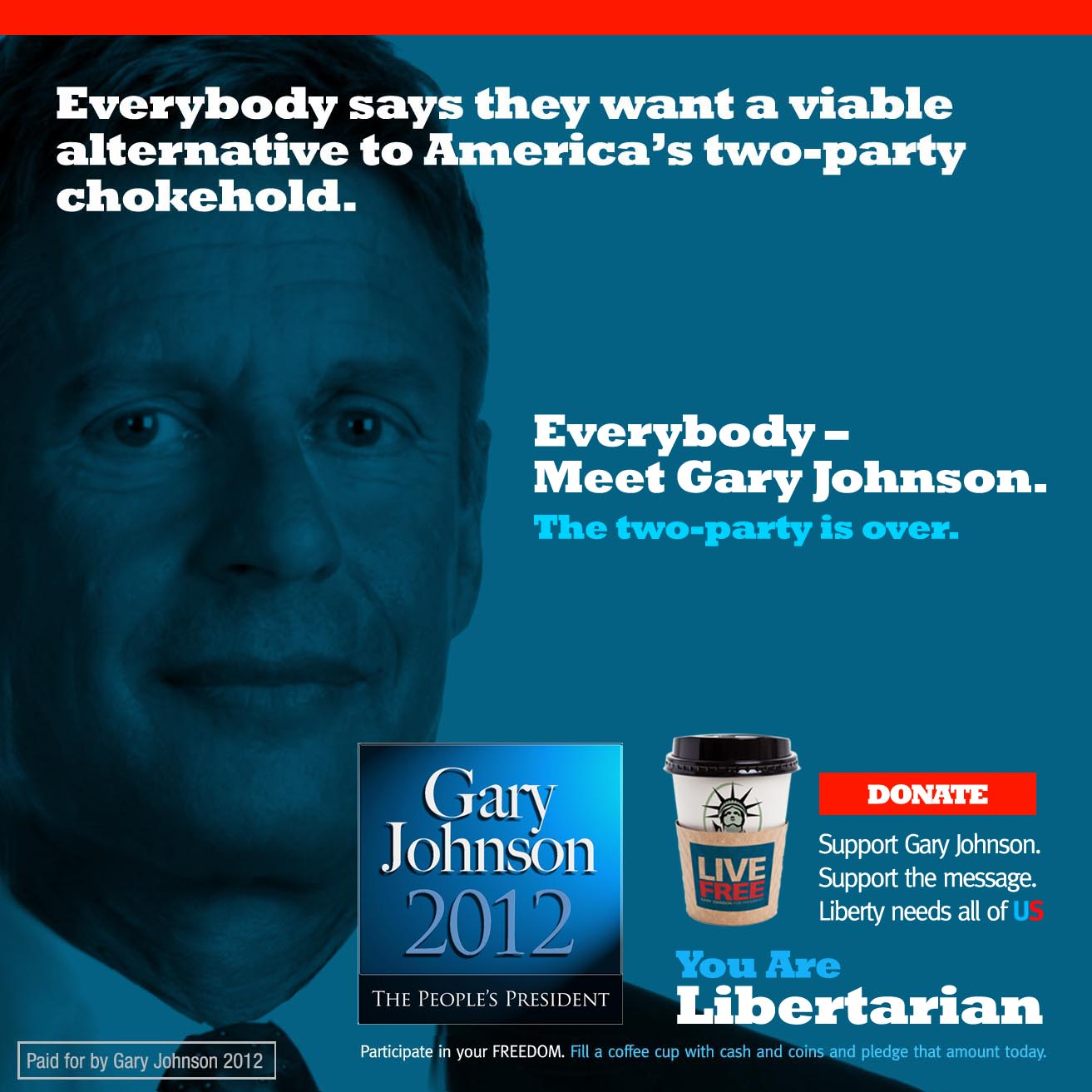 gary johnson two party